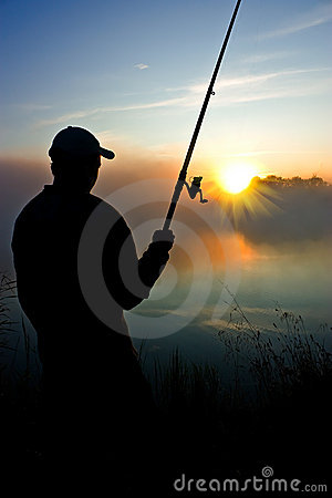 Fishing in the early morning