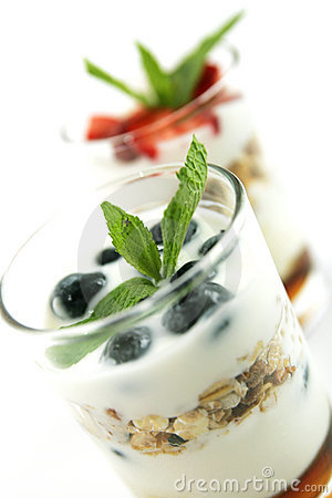Muesli and yogurt