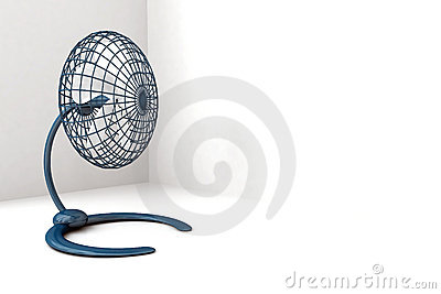 Blue metallic fan