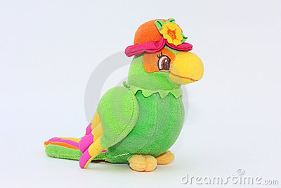 Colorful parrot, toy of plush