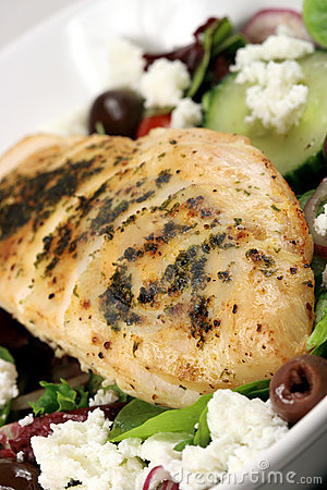 Chiken breast and salad