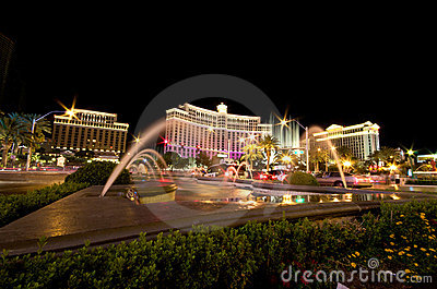 Bellagio in Las Vegas at night