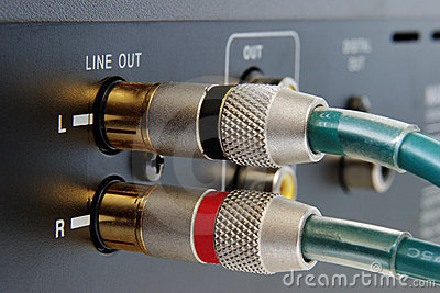 Golden RCA connectors