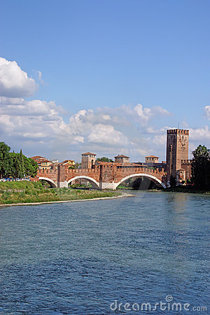 River Adige and Verona castle