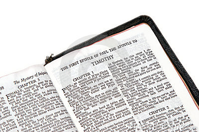 Bible open to timothy