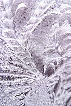 Winter background of hoar-frost on window