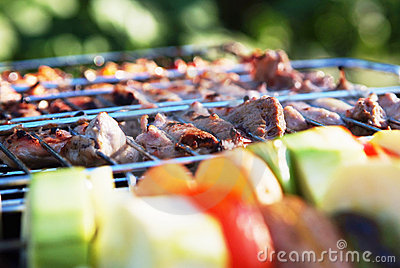 Photo of vegetables and barbecue