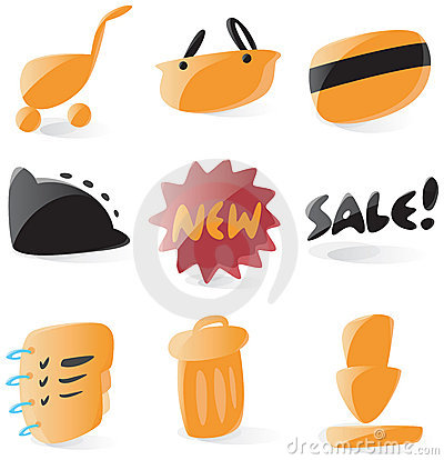 Smooth online shop icons