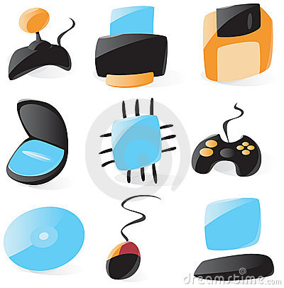 Smooth pc hardware icons