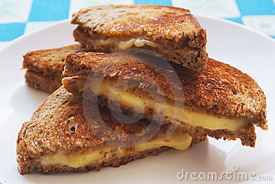 Grilled cheese toast on plate