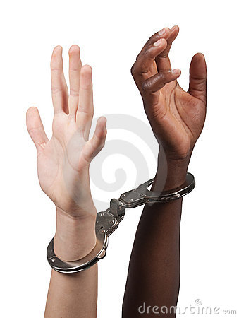 Interracial handcuffed