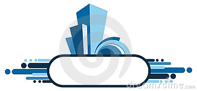 Abstract architectural banner