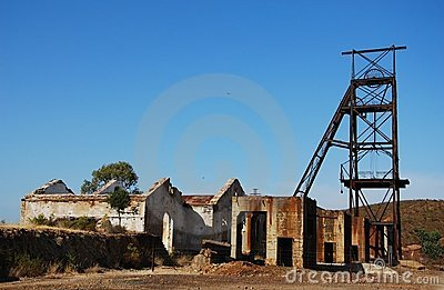 Abandoned industrial buildings mine