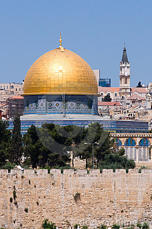 Jerusalem's Dome of the Rock and Steeples