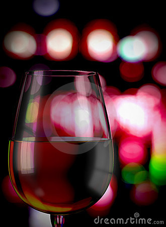 Wineglass with defocused background