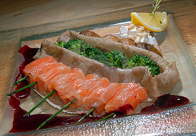 Fillet of red fish