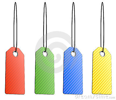 Blank color shopping tags