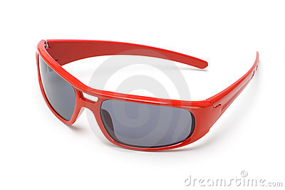 Red toy sunglasses