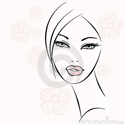 Nice decorative woman face
