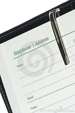 Telephone and Address Book Isolated