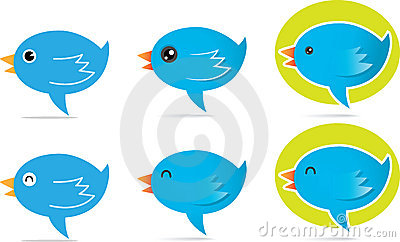 Blue Bird talk icon