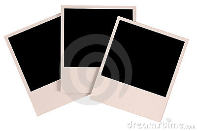 Three blank photos
