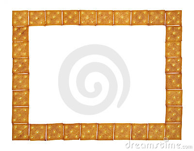 Large and thin frame of crackers
