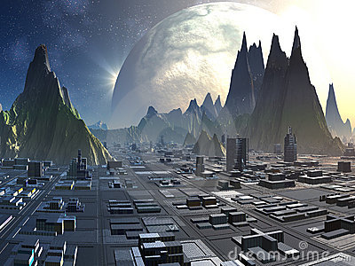 Alien City Skyline