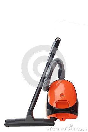 A vacuum cleaner issolated white background
