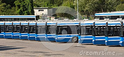 stock image of city buses / public transport