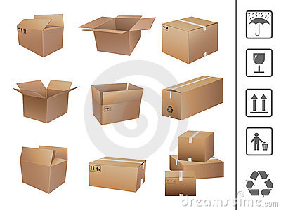 Shipping boxes collection