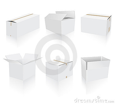 Shipping white boxes collection