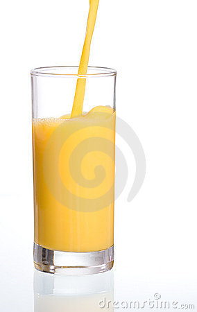 Pouring fresh orange juice