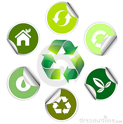 Ecology sticker , icon