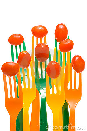 Grape Tomatoes on Forks