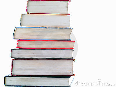 Stacks of Old Textbooks