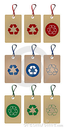 Recycle tags set