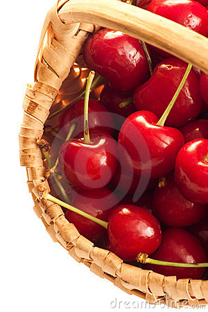 Cherries in little basket