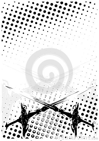 Swords dots poster background
