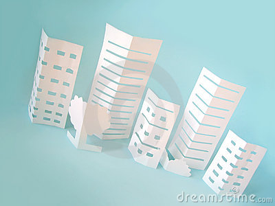 City concept made from paper