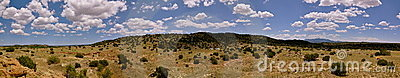 Panorama of New Mexico Landscape near Santa Fe