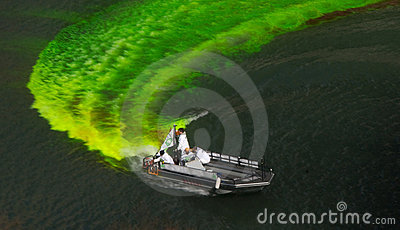Dying the River for St. Patrick's Day