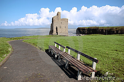 Ballybunion castle ruin view