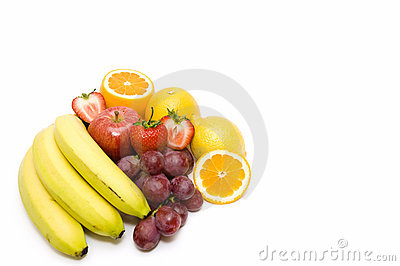 Exotic Fruits on white backgorund