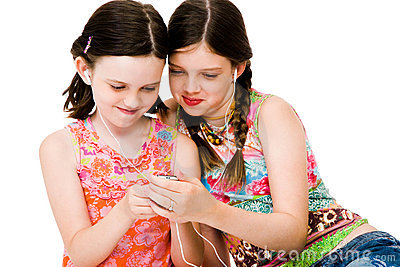 Sisters listening MP3