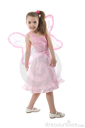 Pink Butterfly Little Girl.