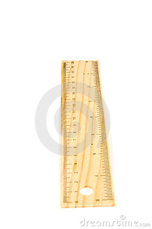 A 20 cm wooden ruler, isolated.Flip it ove