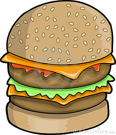 Big Hamburger Vector Illustration