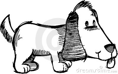 Sketchy Dog Vector Illustration
