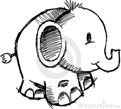 Sketchy Elephant vector